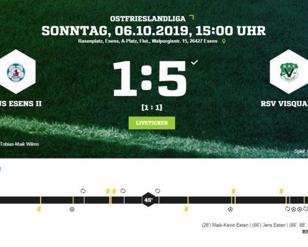 5:1 Niederlage gegen RSV Visquard